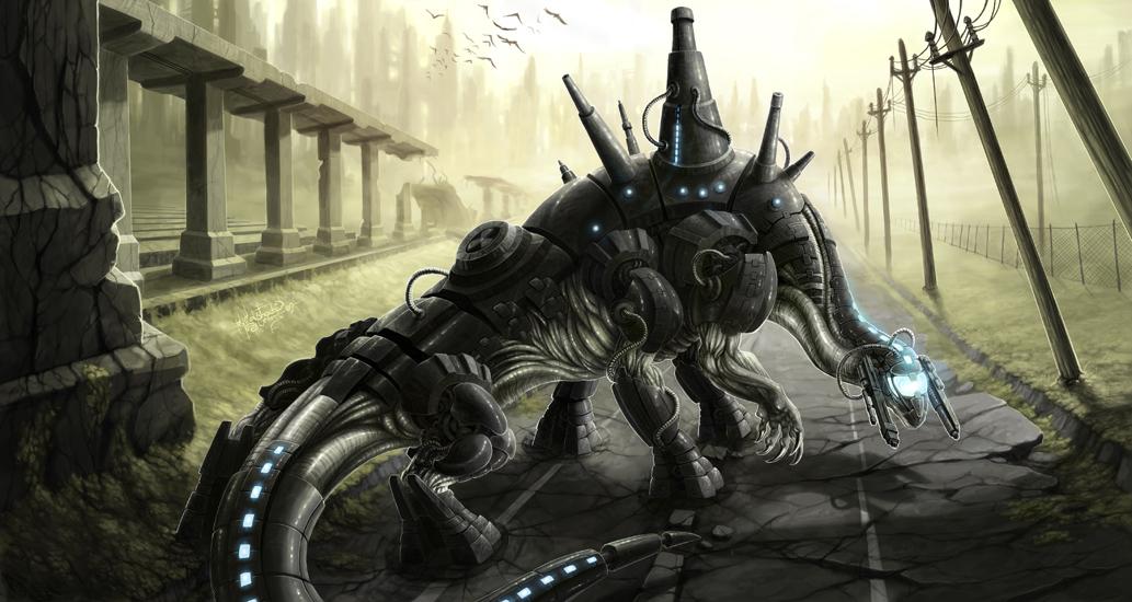 the destroyer scifi art by minna sundberg